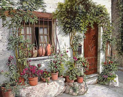 Mailbox Painting - I Vasi Dietro La Grata by Guido Borelli