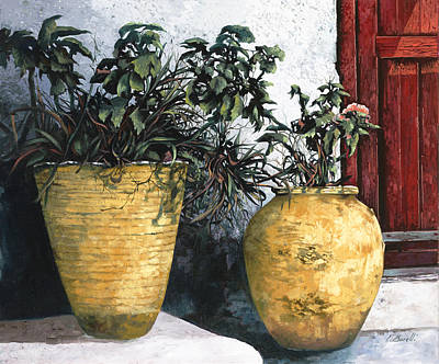 Terra Cotta Painting - I Vasi by Guido Borelli