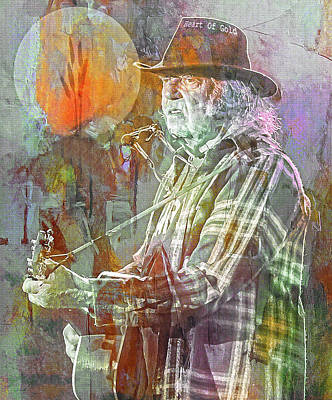 Neil Young Photograph - I Wanna Live, I Wanna Give by Mal Bray