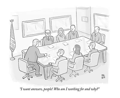 Drawing - I Want Answers by Paul Noth