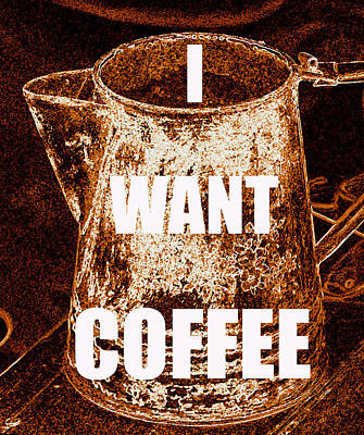 Painting - I Want Coffee by David Lee Thompson