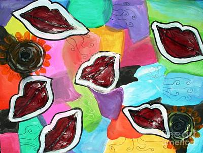 Painting - I Want Kisses by Victoria Hasenauer