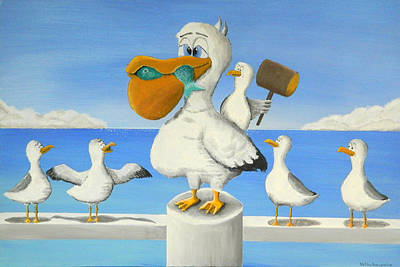 Dumb And Dumber Painting - I Want That Fish by Winton Bochanowicz