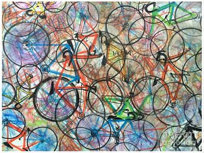 I Want To Ride My Bicycle Bicycle  Art Print by Scott French