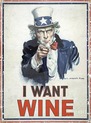 I Want Wine Art Print