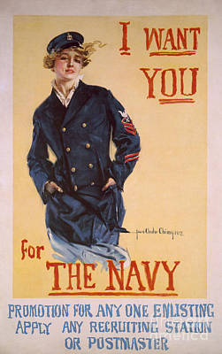 Painting - I Want You For The Navy Patriotic Vintage Poster Art by R Muirhead Art