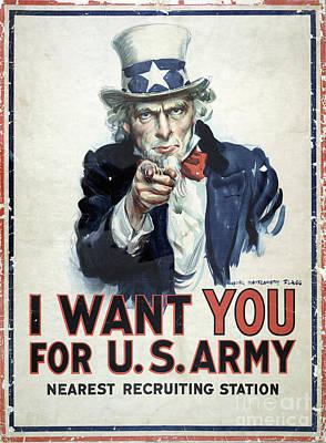 Sailors Girl Photograph - I Want You Poster  1917 by Jon Neidert