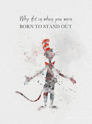 Dr. Seuss Mixed Media - I Was Born To Stand Out by Rebecca Jenkins