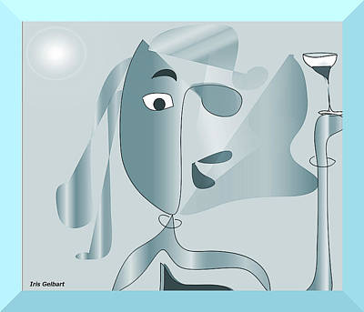 Digital Art - I Went To Another Picasso Show #2 by Iris Gelbart
