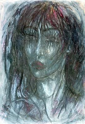 Creativity Drawing - I Wept Out Eyes  by Wojtek Kowalski