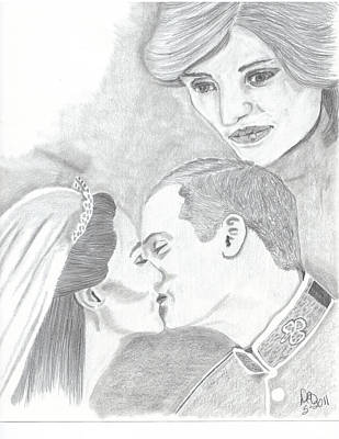 Kate Middleton Drawing - I Will Always Be There by DebiJeen Pencils