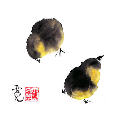 Chicks Painting - I Will Always Look Out For You by Oiyee At Oystudio