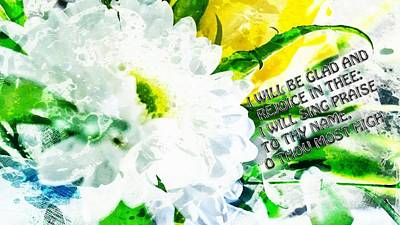 Digital Art - I Will Be Glad And Rejoice In Thee by Payet Emmanuel