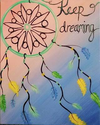 Blue Painting - Keep Dreaming by Artist Jamari
