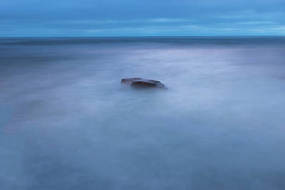Light Blue Photograph - I Will Be The Rock In Your Vastness by Peter Tellone