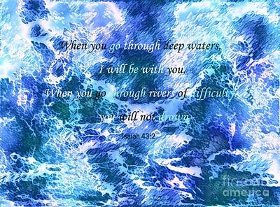 I Will Be With You Art Print