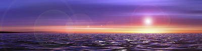 Abstract Beach Landscape Digital Art - I Will Cross The Oceans For You And Thee by Sir Josef - Social Critic -  Maha Art