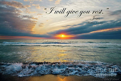 Photograph - I Will Give You Rest by David Arment