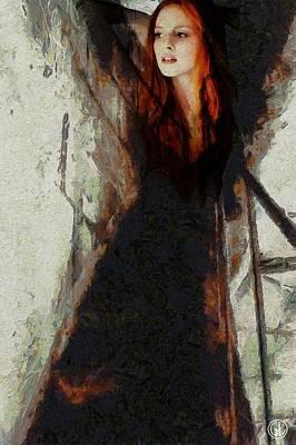 Redhead Digital Art - I Will Not Let Darkness Conquer Me by Gun Legler