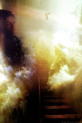 Photograph - I Will Take The Stairs by Yvonne Emerson AKA RavenSoul