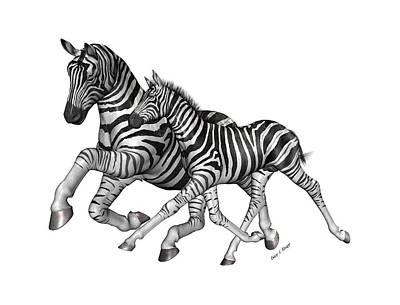 Zebra Digital Art - I Will Take You Home by Betsy Knapp