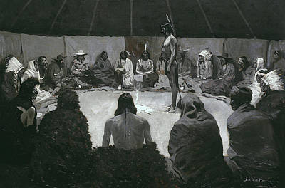 Tents Painting - I Will Tell The White Man by Frederic Remington