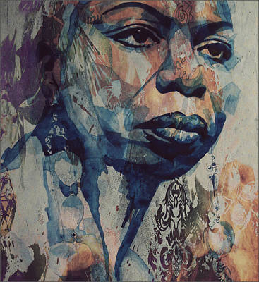 Jazz Legends Wall Art - Mixed Media - I Wish I Knew How It Would Be  Feel To Be Free by Paul Lovering