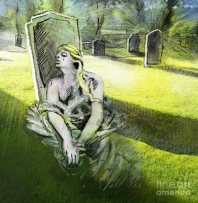 Grave Painting - I Wish You Were Here by Miki De Goodaboom