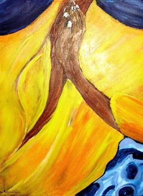 I Wonder If I Pray  Art Print by Shelley Bain