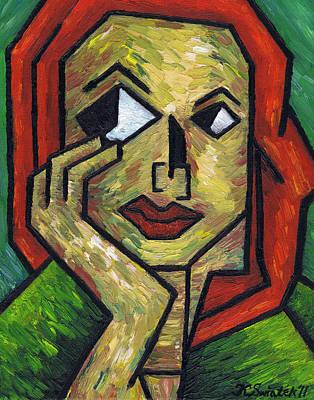 Polish Painters Painting - I Wonder by Kamil Swiatek