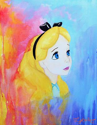 Disney Artist Painting - I Wonder by Lynsie Petig