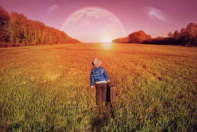 Child Photograph - I Would Fly Into Space.. by Alexander Tumashov