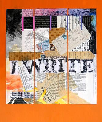 Pen Mixed Media - I Write by Dawn Chevoya