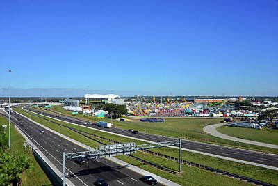 Photograph - I4 And Florida State Fairgrounds by David Lee Thompson
