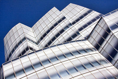 Modern Man Sharks Rights Managed Images - IAC Building Royalty-Free Image by June Marie Sobrito