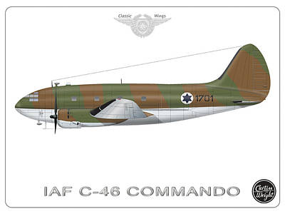 Digital Art - Iaf C-46 Commando by Amos Dor