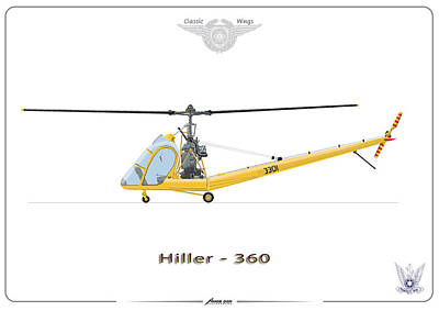 Print featuring the digital art Iaf Hiller 360 by Amos Dor