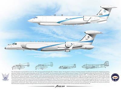 Digital Art - Iaf Nachshon Squadron by Amos Dor