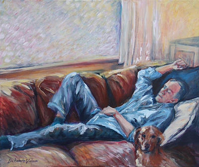 Painting - Ian And Foster by Lisa Kimberly Glickman