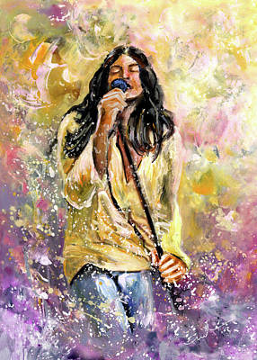 Painting - Ian Gillan Then by Miki De Goodaboom