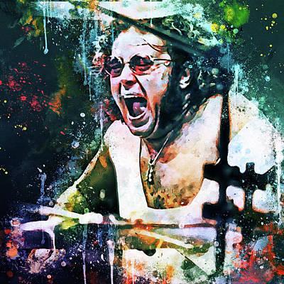 Digital Art - Ian Paice Deep Purple Portrait by Yury Malkov