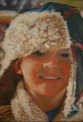 Ian Portrait Art Print by Leonor Thornton
