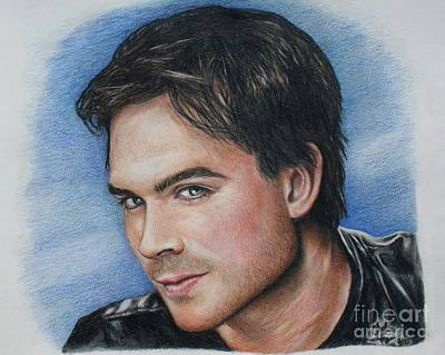 Drawing - Ian Somerhalder / Damon Salvatore by Christine Jepsen