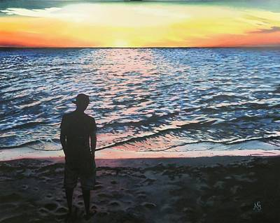 Painting - Ian's Sunset by Anne Gardner