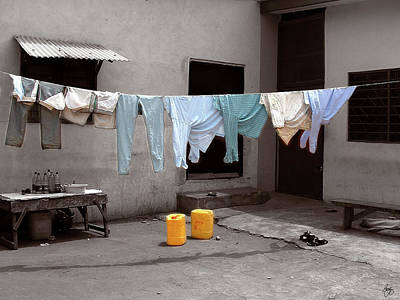 Photograph - Ibadan Washday by Wayne King