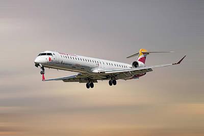 Mixed Media - Iberia Regional Bombardier Crj-1000 by Smart Aviation