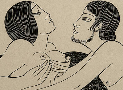 Nipple Drawing - Ibi Dabo Tibi by Eric Gill