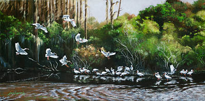 Painting - Ibis Landing by Joan Garcia