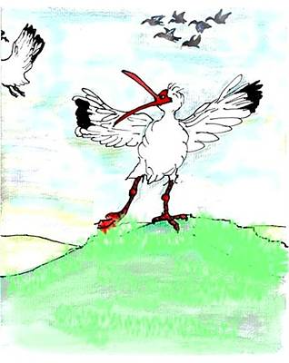 Ibis May Never Fly Again Art Print by Carol Allen Anfinsen