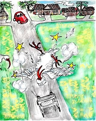 Ibis Sees Stars Art Print by Carol Allen Anfinsen